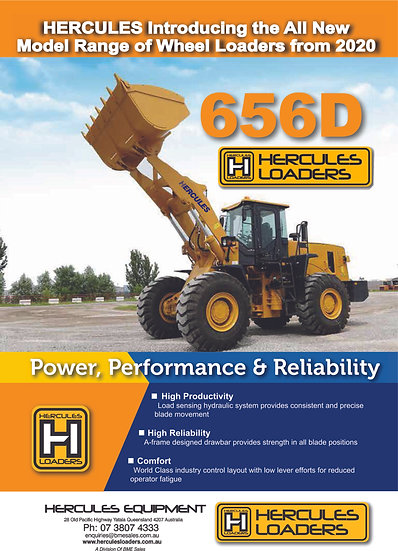 Hercules HD656 Wheel Loader Heavy Duty Series