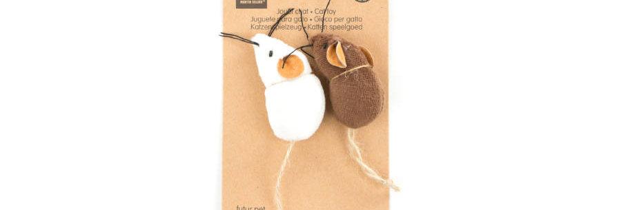 Martin Sellier - 100% természetes anyagokból készült öko macskajáték, 2 db 6 cm-