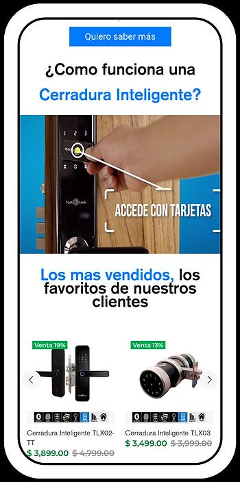 Diseño Web en Shopify, tienda en línea para Tock Lock, empresa dedicada a la venta de cerraduras inteligentes. Diseño Web en Monterrey, Tienda en línea en Monterrey, Ecommerce en Monterrey, Ecommerce en Mexico, Diseño de Paginas Webs en Mexico, Tienda en linea en mexico.