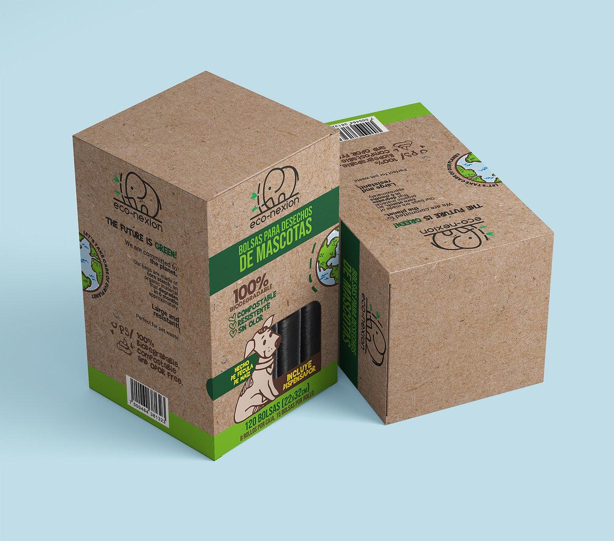 Diseño Web y Diseño de empaque para la marca econexion. Productos ecológicos Biodegradables. Diseño Web en Monterrey, Diseño de Empaque en Monterrey, Diseño de Paginas Webs en Mexico, Diseño de Empaque en Mexico.