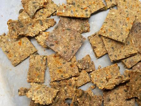 Gluten-Free Vegan Buckwheat Crackers