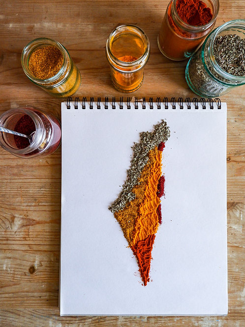 Map of Israel Spice Art