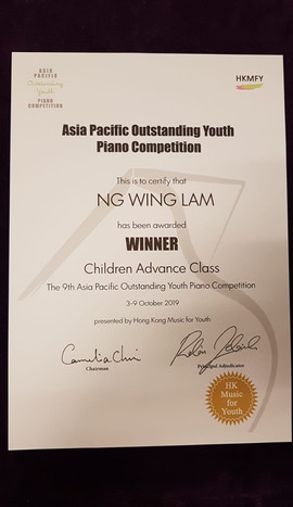 Ng Wing Lam 1- Winner in The 9th Asia Pa