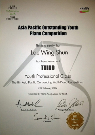 3rd Prize in Youth Professional Class