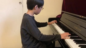 Mark is working hard to prepare for the concert and competition!