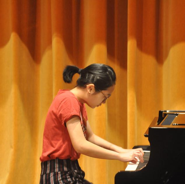 Stephanie performing