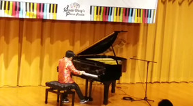 Pak Ho is performing another piece in Student Concert 2018