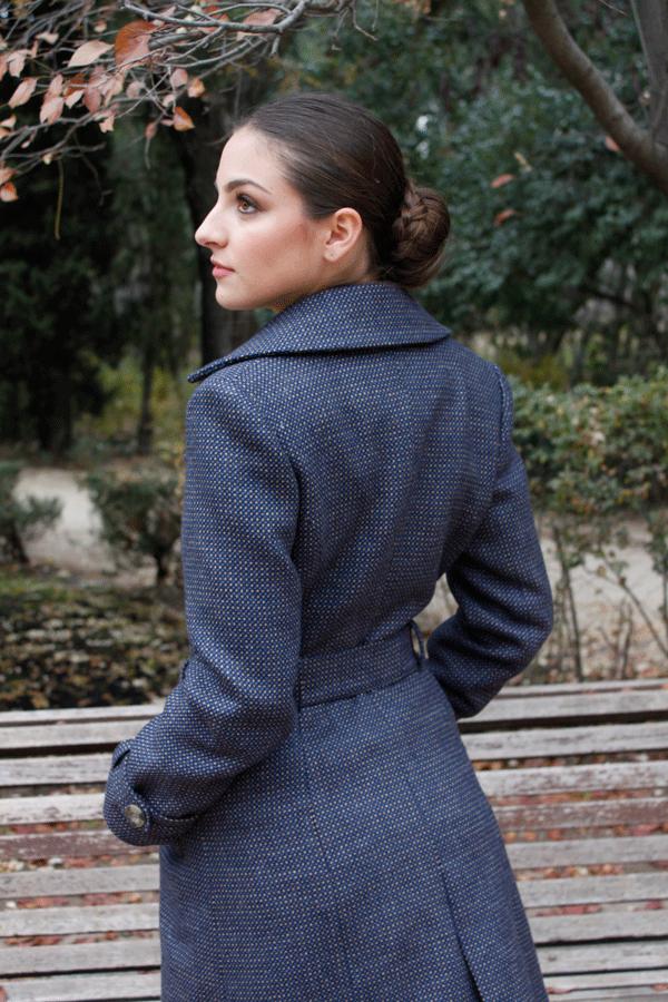 abrigo con corte gabardina