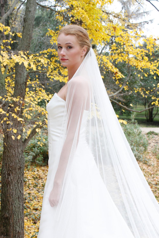 velo de novia liso