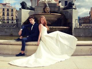 El plumé de mi falda - Un vestido de novia ideal para una novia exigente.