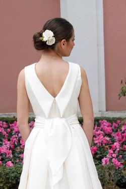 vestido de novia espalda pico papion - masum karimi