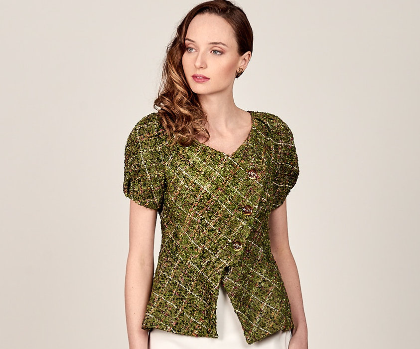 Blusa en tejido chanel