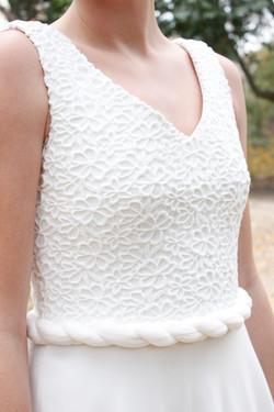 detalle cuerpo vestido de novia sade - mk