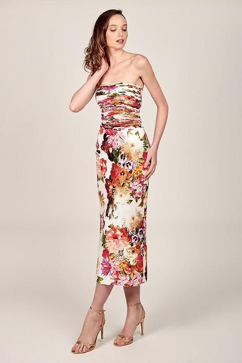 Vestido midi plisado artesanal