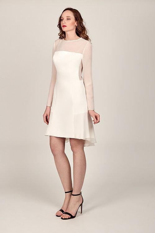Vestido espalda gasa