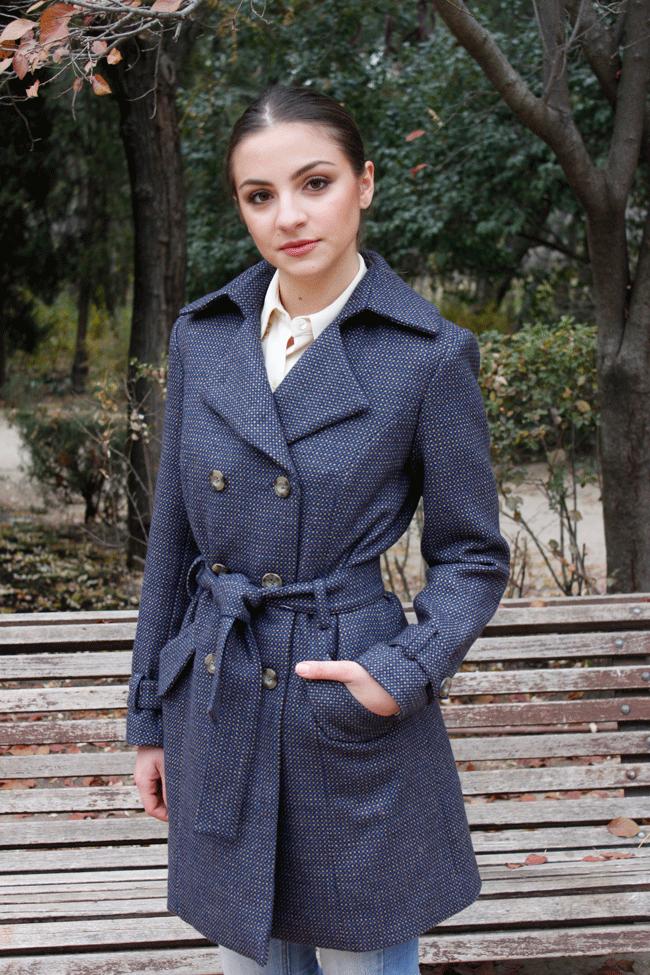 abrigo con corte gabardina inglés