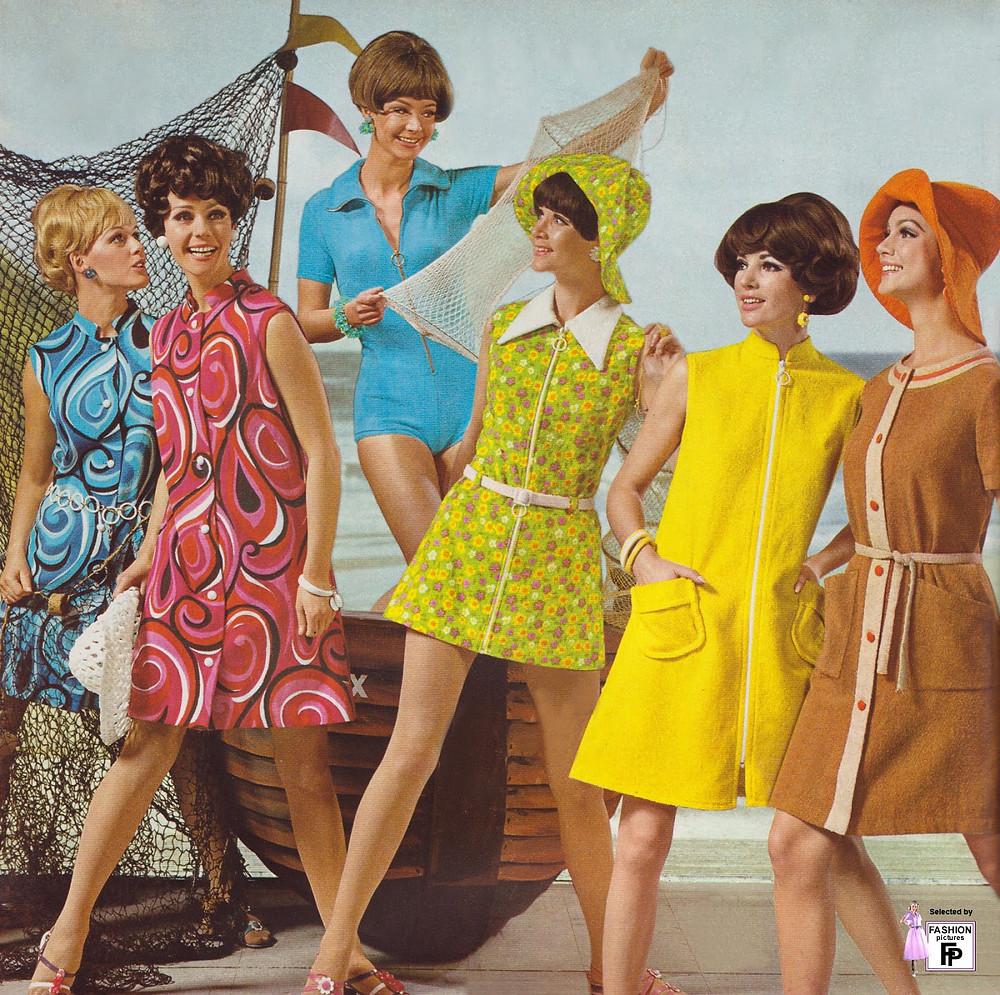 tendencias de moda año 70