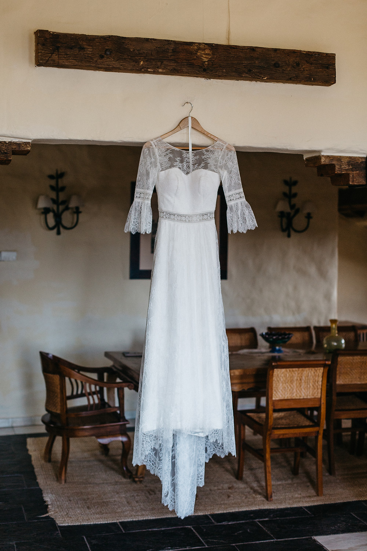 Vestido de novia para boda de otoño