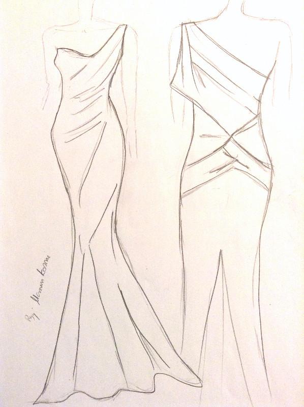 bocetos de moda alta costura