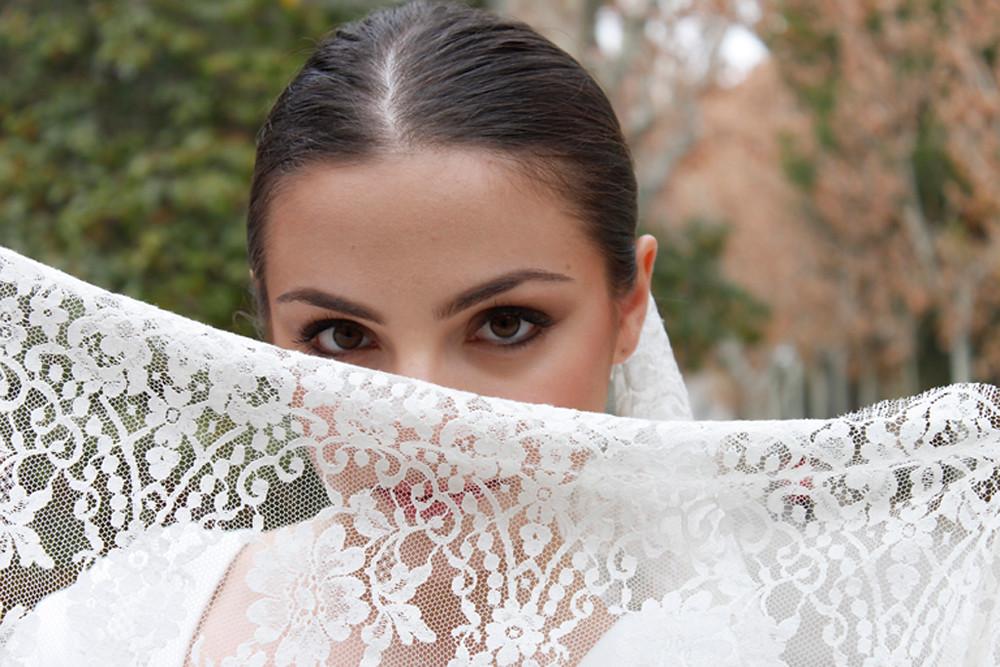 velo de novia flamenca