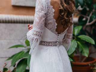 Vestido de Novia Boho-chic para Jimena - diseño exclusivo de Masum Karimi