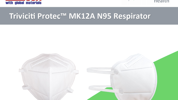 Triviciti ProtecTM Brand MK12A N95 Respirator - Made in the USA