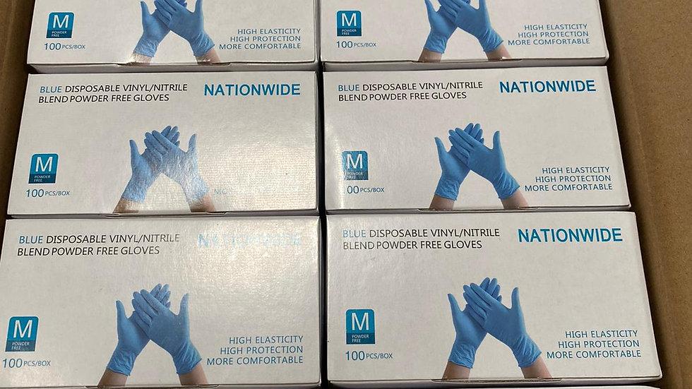 Nationwide Disposable Vinyl/Nitrile exam gloves