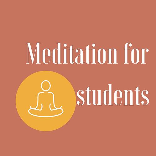 Meditation for Students - Access platform