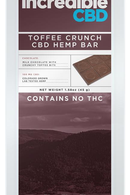 Incredible CBD Toffee Crunch CBD Bar