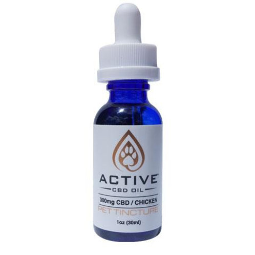 *NEW* Active CBD Oil Pet Tincture 300mg - Chicken flavored