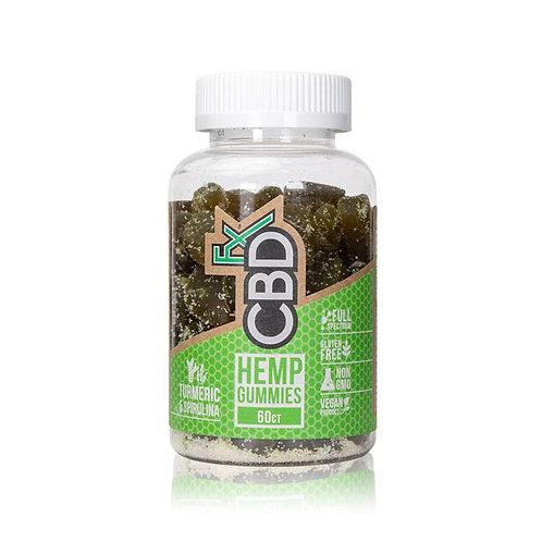 ORGANIC 60 count, 300mg CBD Gummy Bears (Tumeric and Spirulina)