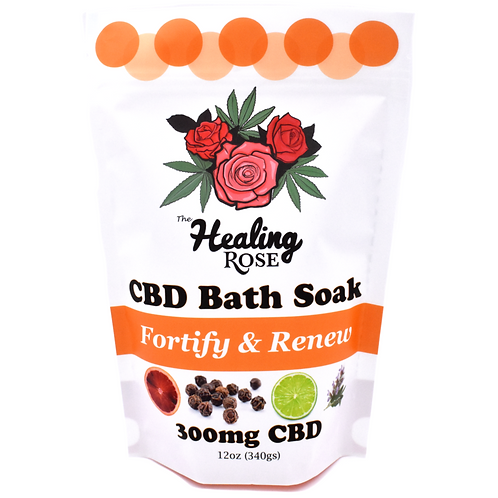 "The Healing Rose Co. 300mg CBD 12 oz. Bath Soak - ""Fortify & Renew"""