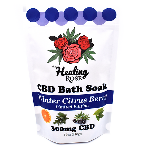 "The Healing Rose Co. 300mg CBD 12 oz. Bath Soak - ""Winter Citrus Berry"""