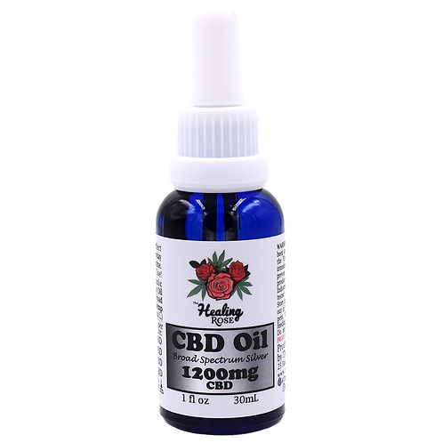 The Healing Rose Co. - Broad Spectrum CBD Oil Silver (1200mg)
