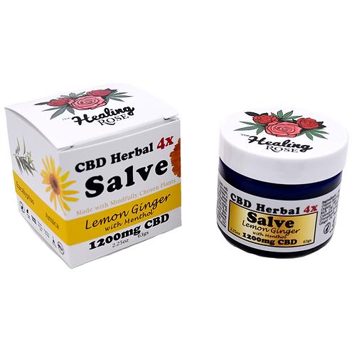 The Healing Rose Co. - Lemon Ginger w/ Menthol CBD Herbal Salve (1200mg CBD)