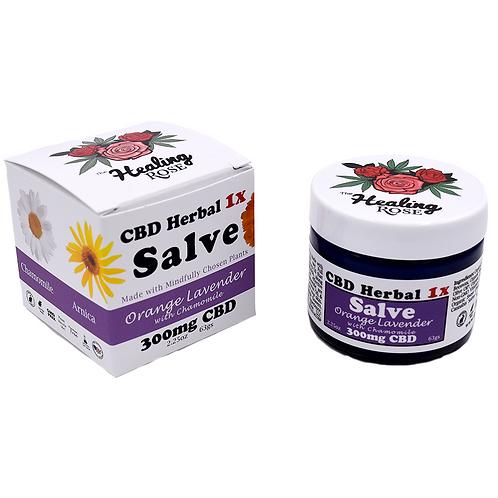 The Healing Rose Co. - Orange Lavender w/ Chamomile CBD Herbal Salve (300mg CBD)