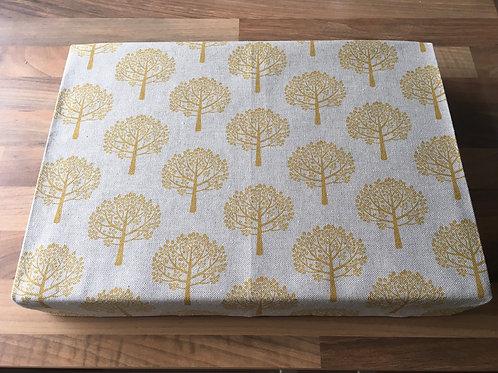 "14"" x 10"" x 2"" Cotton Felting Mat Cover Trees Mustard"
