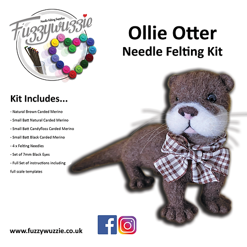 Ollie Otter Needle Felting Kit