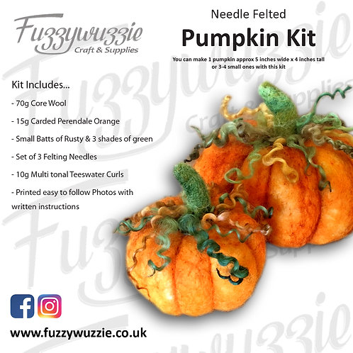 Needle Felted Pumpkin Kit