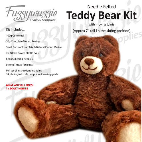Teddy Bear Kit with Moving Joints