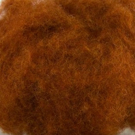Corriedale Carded Wool Sliver Fox 50g