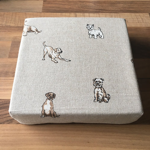 """8"""" x 8"""" x 2"""" Cotton Felting Mat Cover Dogs"""