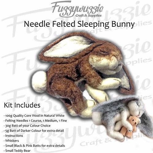 Needle Felted Sleeping Bunny Kit
