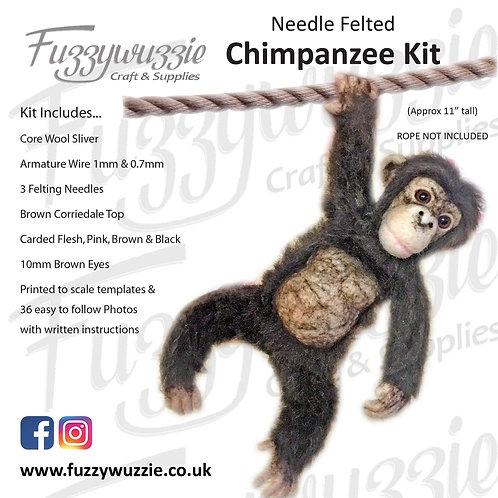 Needle Felted Chimpanzee Kit