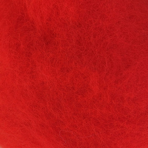 Carded Wool Batt RED 50g