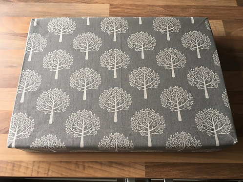 "14"" x 10"" x 2"" Cotton Felting Mat Cover Trees Grey"