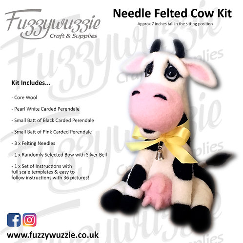Needle Felted Cow Kit