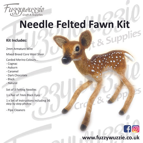 Needle Felted Fawn Kit