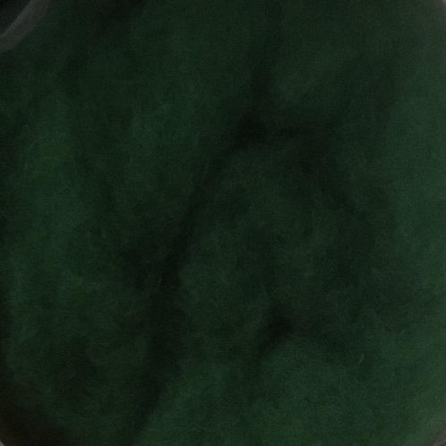 Dark green Carded Wool 50g