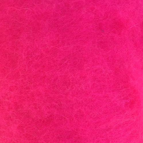 Carded Wool Batt Pink 50g